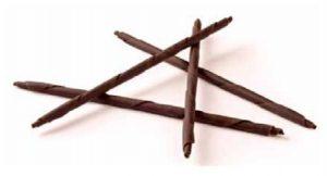 czekoladowe ozdoby rurki